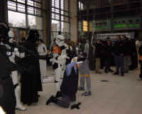 The kind of scenes happening right in front of our panel (Die, Rebel Scum).