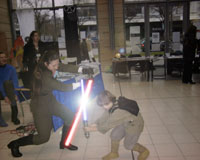 Dreighton about to loose her duel against Anakin.